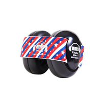 EMS 4 Bubs Baby Earmuffs – Black - Star Stripes