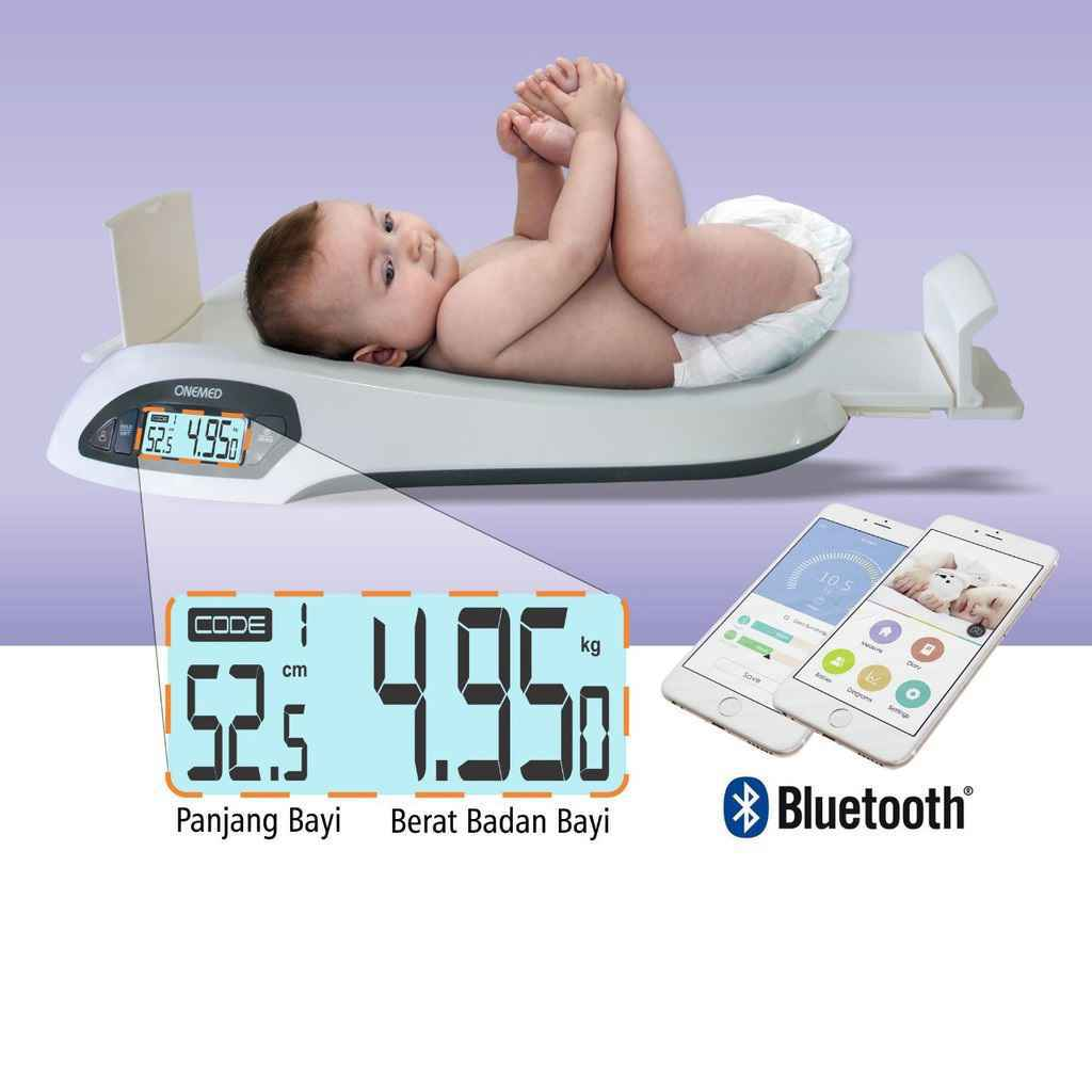 Timbangan Bayi OneMed Electronic Baby Scales 721 with Bluetooth