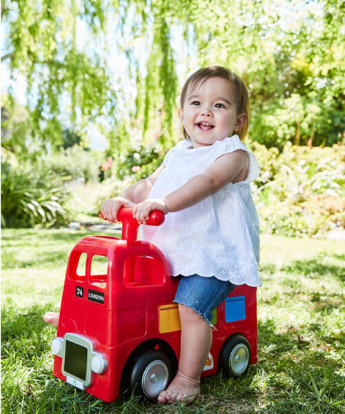 ELC Happyland Ride On Bus - Red