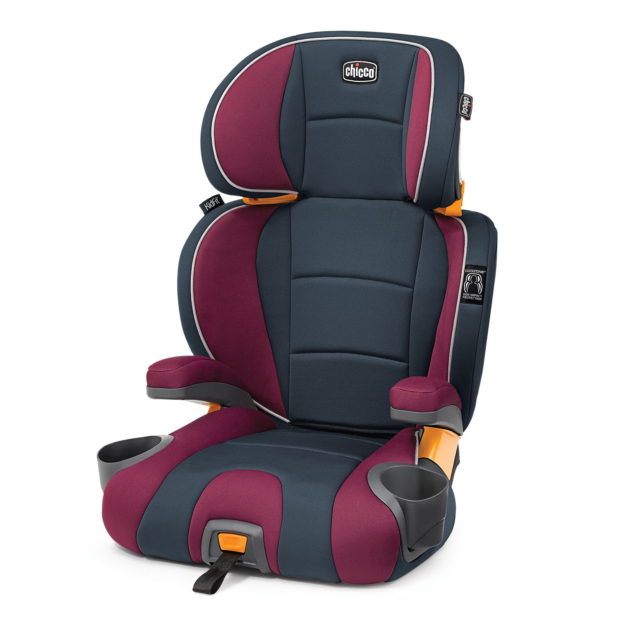 Chicco KidFit 2 in 1 Belt Positioning Booster Car Seat - Amethyst (Red)