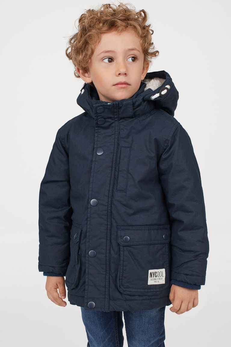 "H&M Padded Parka ""Nycool Keeping it Fresh Since 96"" (Size 1.5 - 2 Years) - Dark Blue"