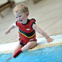 Konfidence Babywarma Baby Wetsuit - Red Wave (6-12 months)