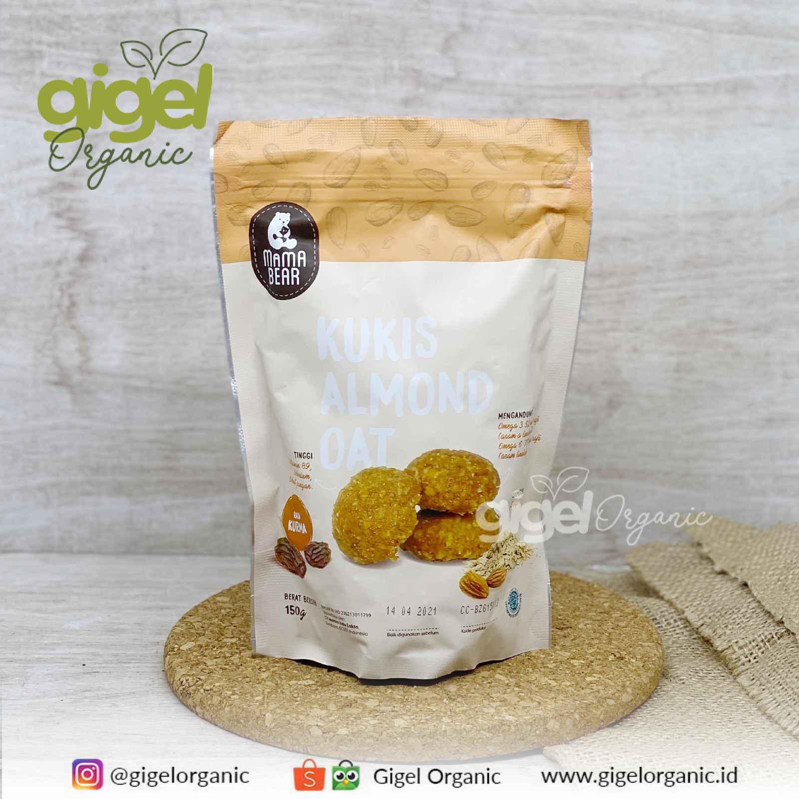 Jual Mama Bear ASI Booster Kukis Almond Oat Kurma Gigel Organic