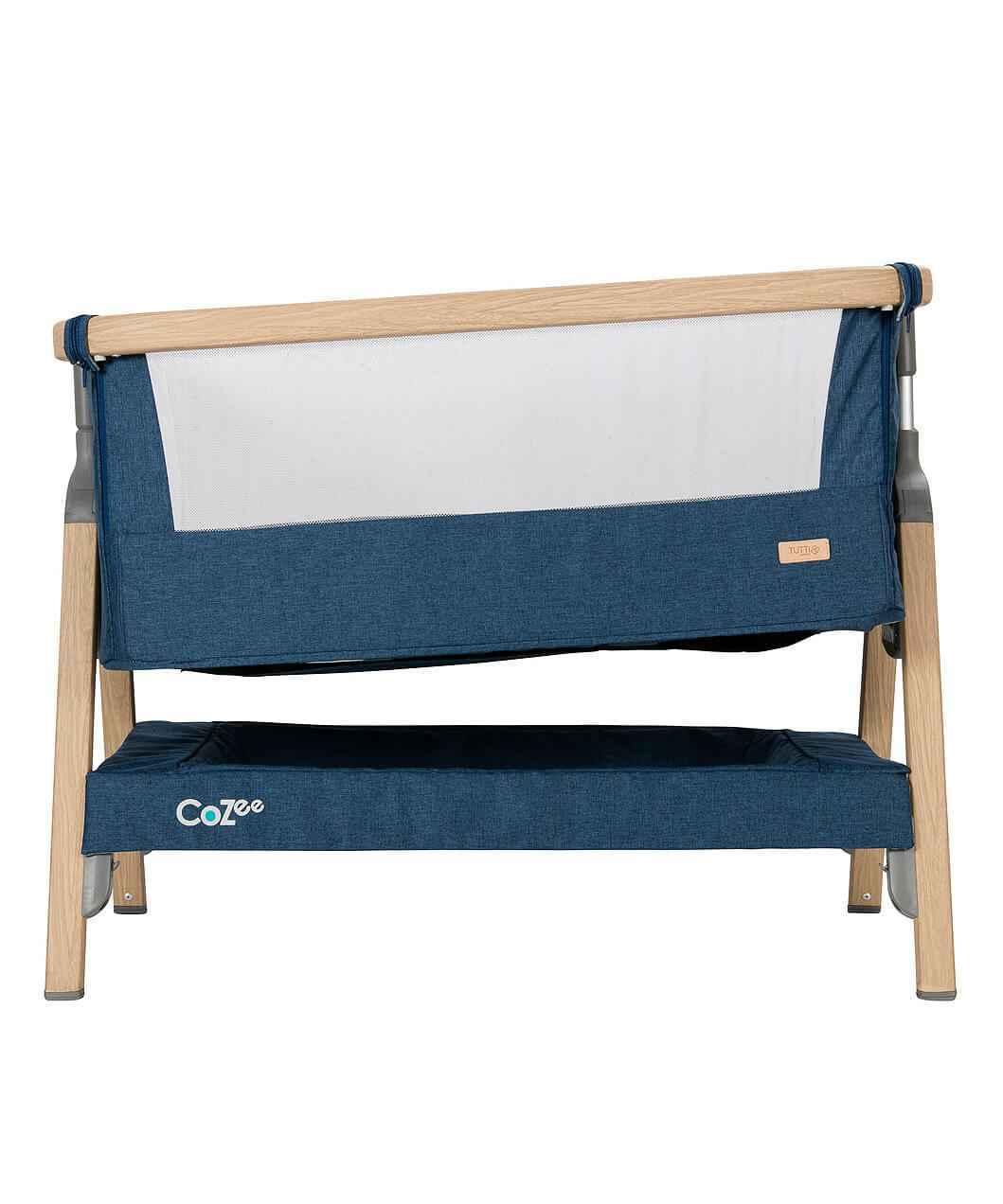 Tutti Bambini CoZee Bedside Crib - Oak & Blue - gigel - 4