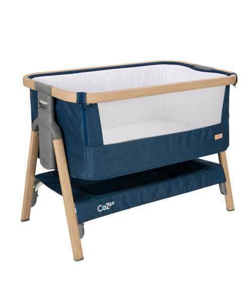 Tutti Bambini CoZee Bedside Crib - Oak & Blue - gigel - 1