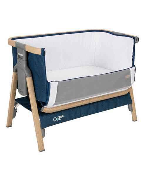 Tutti Bambini CoZee Bedside Crib - Oak & Blue - gigel - 2