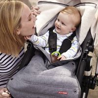 Skip Hop Stroll and Go Three Season Stroller Footmuff, Size: Infant - Heather Grey