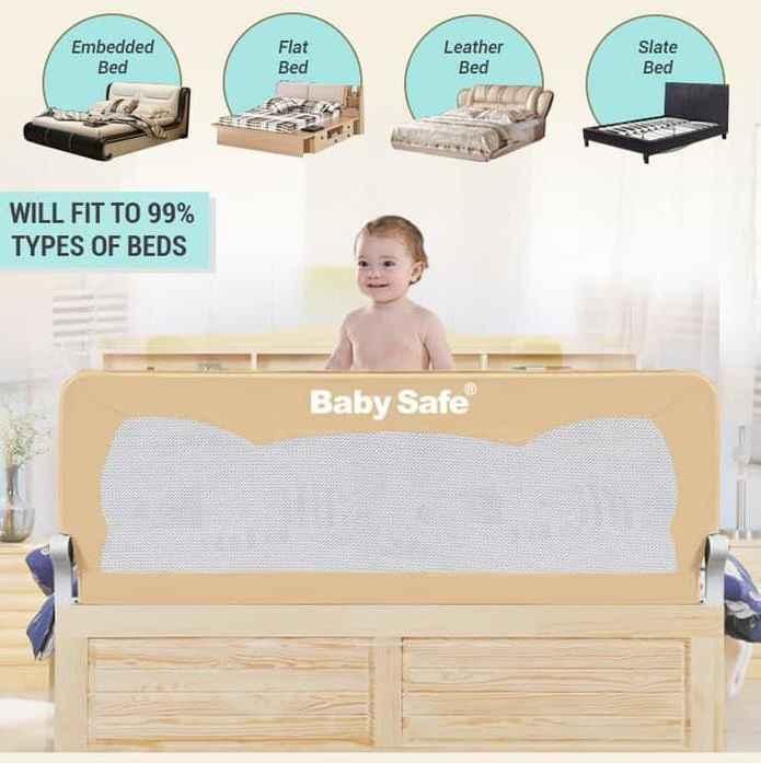 Baby Safe Bedrail 150cm - Beige