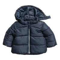 H&M Padded Jacket with Hood - Dark Blue (1,5-2 years)