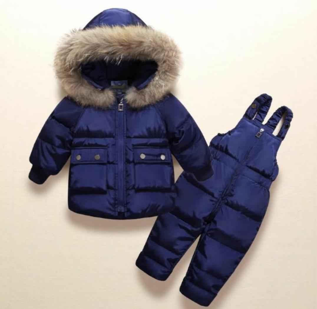 Kawayu Apparel Winter Warm Clothing Set - Blue (size 2-3 Year)