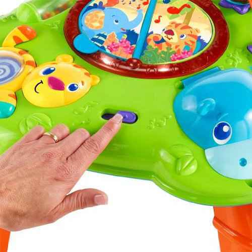 Bright Starts Safari Sounds Musical Learning Table - Green Orange