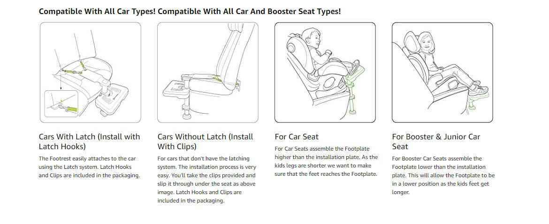 KneeGuard Kids3 Car Seat Footrest