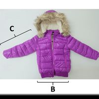 Justice Jacket Basic Core Puffer - Purple (3-5 years)