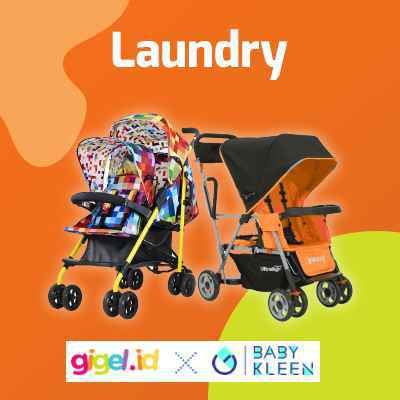 GIGEL.ID x Baby Kleen Laundry Stroller  Double - 1
