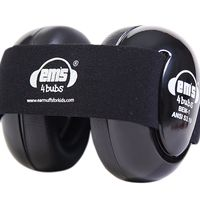 EMS 4 Bubs Baby Earmuffs – Black - Black